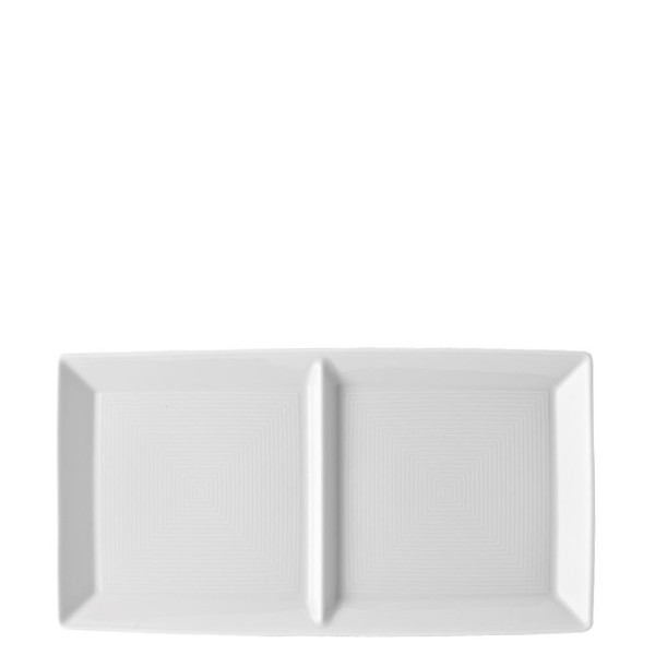 2 part Divided Tray, 11 inch | Thomas Loft White