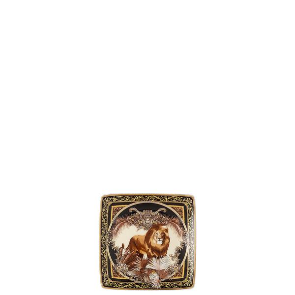 Canape Dish, Square,William, Lion, 4 3/4 inch | La Regne Animal