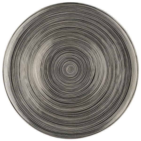Service Plate, Silver Titanium, 13 inch | TAC Stripes 2.0