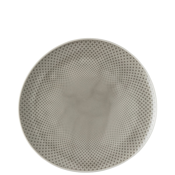 Dinner Plate, #2, Relief Front & Back, 10 5/8 x 10 1/4 inch | Junto Pearl Grey