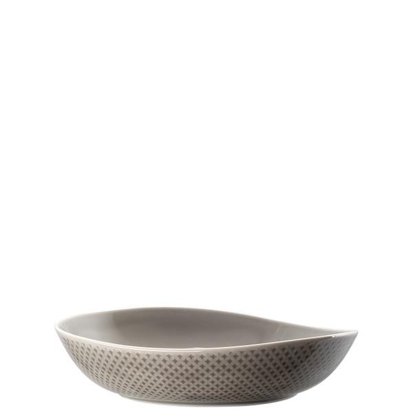 Plate, Deep, 9 7/8 x 9 1/2 inch | Junto Pearl Grey