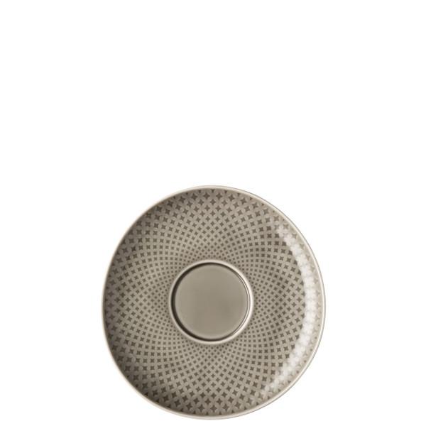 Saucer, 7 1/8 inch | Junto Pearl Grey