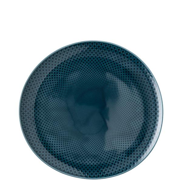 Dinner Plate, #2, Relief Front & Back, 10 5/8 x 10 1/4 inch   Junto Ocean Blue