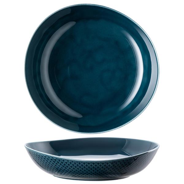 Plate, Deep, 9 7/8 x 9 1/2 inch | Junto Ocean Blue