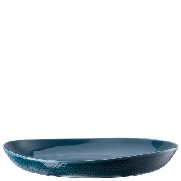 Plate, Deep, 13 inch | Junto Ocean Blue