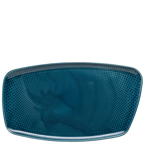 write a review for Platter, 15 x 9 1/2 inch | Junto Ocean Blue