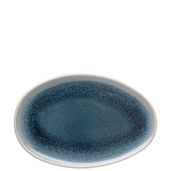 Platter, Flat,Oval, 11 inch, 7 2/3 ounce | Junto Stoneware Aquamarine