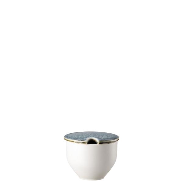 Sugar Bowl with Indent, 8 1/2 ounce | Junto Stoneware Aquamarine