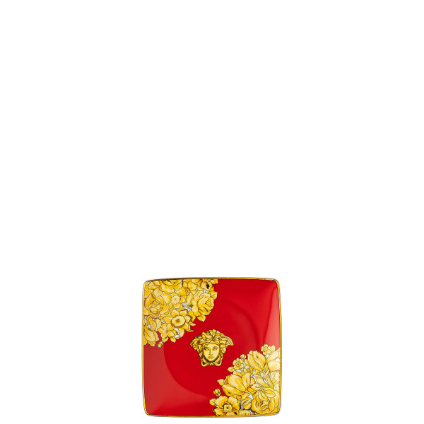 Canape Dish, Square, 4 3/4 inch | Medusa Rhapsody Red