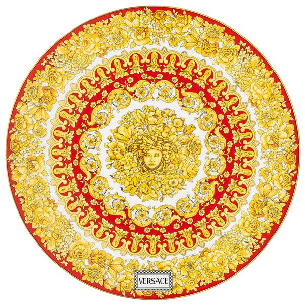 Service Plate, 13 inch | Medusa Rhapsody Red