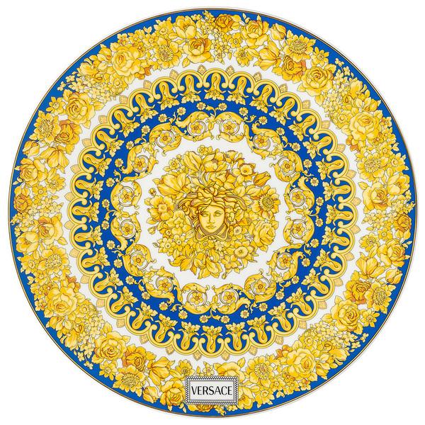 Service Plate, 13 inch | Medusa Rhapsody Blue