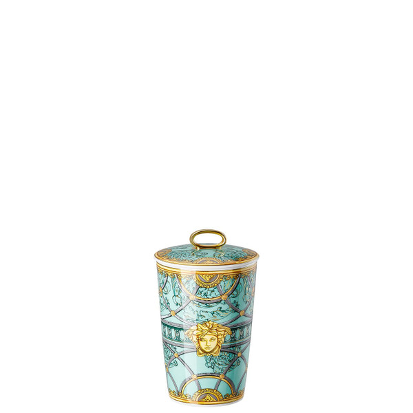 Scented Votive with Lid, 5 1/2 inch | Scented Candles Scala Palazzo Verde