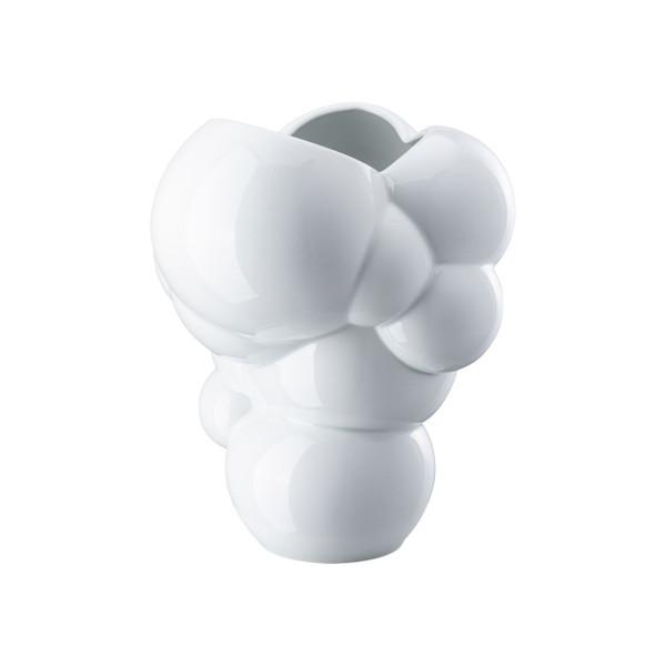Vase, white glossy, 10 1/4 inch | Skum