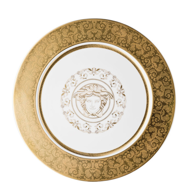 Service Plate, 13 inch | Versace Medusa Gala Gold