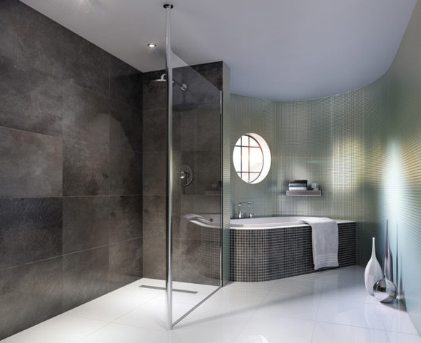Column Glass Shower Panel 1000mm