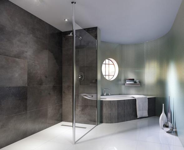 Column Glass Shower Panel 900mm