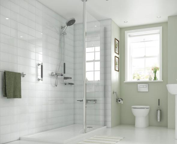 Column Glass Shower Panel 700mm