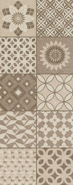 Metropoli Brown Isole Decor Wall Tile - 500 x 200 x 8mm