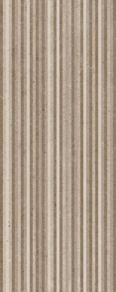 Metropoli Brown Slot Decor Wall Tile - 500 x 200 x 8mm