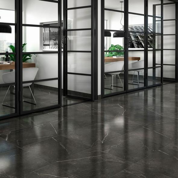 Nival Negro Gloss Wall & Floor Tile 600 x 600 x 9mm