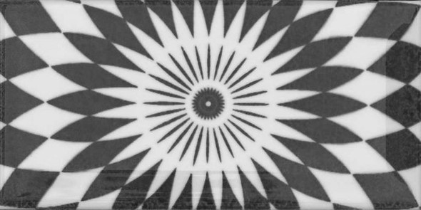 Metro Patchwork Black & White Wall Tile 150 x 75 x 7mm