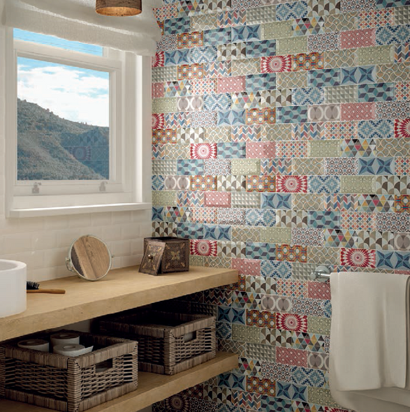 Metro Patchwork Colours Wall Tile 150 x 75 x 7mm
