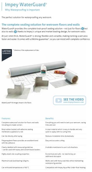 Waterguard® Tanking Kit - Internal Corner