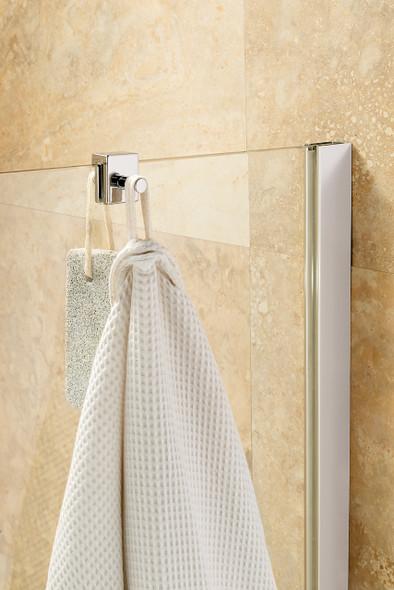 Shower Gel/Robe Chrome Hook 35mm x 28mm