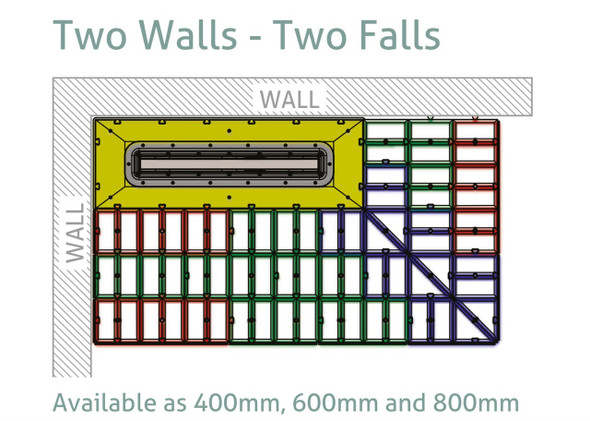 Aqua-Grade Linear 400mm Two Falls