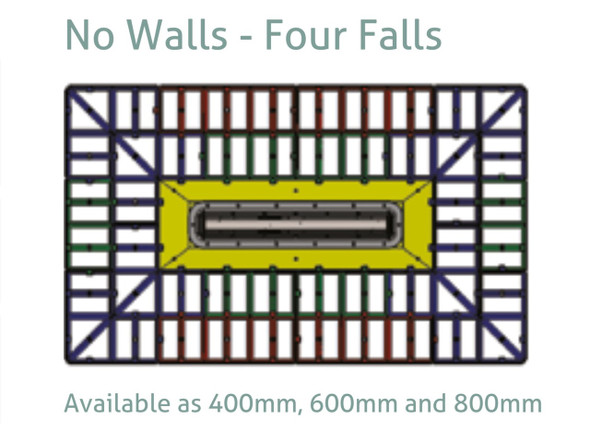 Aqua-Grade Linear 800mm Four Falls