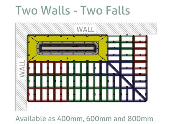 Aqua-Grade Linear 600mm Two Falls