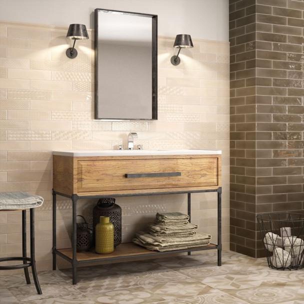 Opal Brick Ivory Wall Tile - 300 x 75 x 8mm