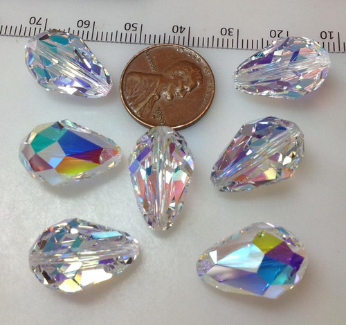 5500 Teardrop 18x12mm Crystal AB