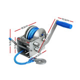 Giantz 3 Speed Hand Winch Synthetic Rope
