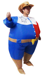 SHERIFF Fancy Dress Inflatable Suit -Fan Operated Costume