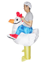 CHICKEN Fancy Dress Inflatable Suit - Fan Operated Costume