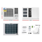 DevantiWindow Air Conditioner Portable 2.7kW Wall Cooler Fan Cooling Only
