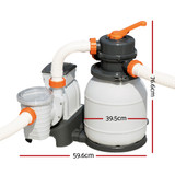 Bestway 1500GPH Flowclear Sand Filter Swimming Above Ground Pool Cleaning Pump