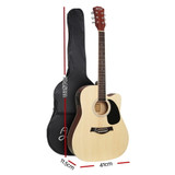 """Alpha 41"""" Inch Electric Acoustic Guitar Wooden Classical with Pickup Capo Tuner Bass Natural"""