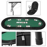 185cm 8 Player Folding Poker Blackjack Table with Cup Holder