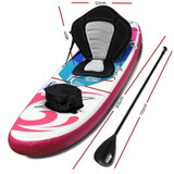 """Weisshorn Stand Up Paddle Boards 10"""" Inflatable SUP Surfboard Paddleboard Kayak Seat"""