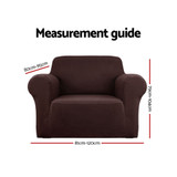 Artiss Sofa Cover Elastic Stretchable Couch Covers Coffee 1 Seater