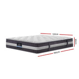 Giselle Bedding Double Mattress Bed Size 7 Zone Pocket Spring Medium Firm Foam 30cm