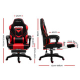 Artiss Office Chair Computer Desk Gaming Chair Study Home Work Recliner Black Red