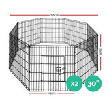 """i.Pet 2X30"""" 8 Panel Pet Dog Playpen Puppy Exercise Cage Enclosure Fence Play Pen"""
