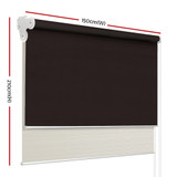Roller Blinds Blockout Blackout Curtains Window Double Dual Shades 1.5X2.1M CRCO