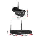 UL-tech CCTV Wireless Security Camera System 4CH Home Outdoor WIFI 2 Bullet Cameras Kit 1TB