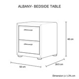 Albany Bedside Table