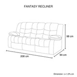 Fantasy Recliner Pu Leather 3R Brown