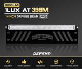 14inch CREE LED Light Bar Single Row Driving Beam W/ Number Plate Frame 4x4 Offroad